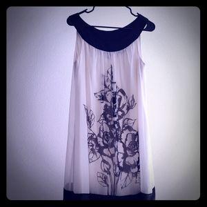 White/Black Dress